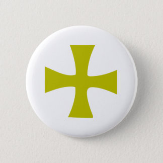 Byzantine Cross of Gold 6 Cm Round Badge