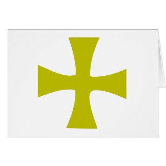 Byzantine Cross of Gold Card