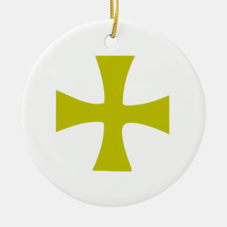 Byzantine Cross of Gold Christmas Ornament
