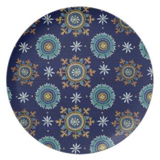 Byzantine Empire melamine plate blue