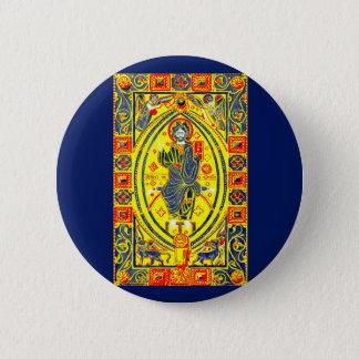 Byzantine folk art Jesus 6 Cm Round Badge