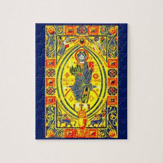 Byzantine folk art Jesus Jigsaw Puzzle