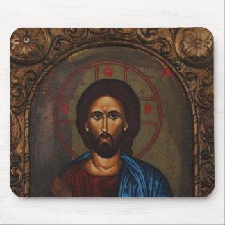 Byzantine Greek Orthodox Icon JESUS CHRIST Mouse Pad