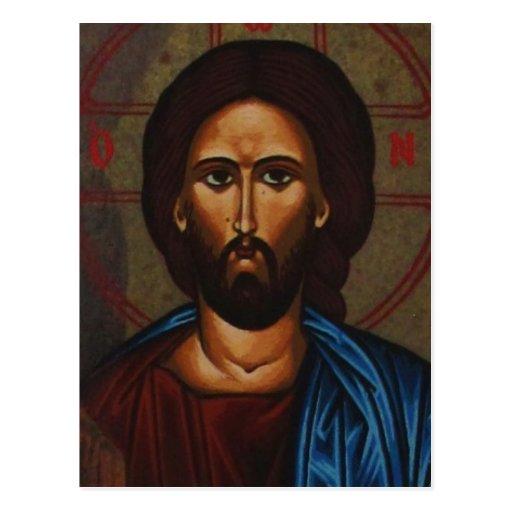 Byzantine Greek Orthodox Icon JESUS CHRIST Postcards