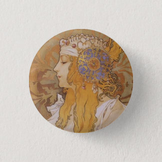 Byzantine Head: Blonde 3 Cm Round Badge