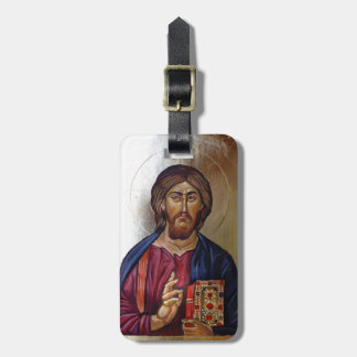 Byzantine Icon of Christ Pantocrator Luggage Tag
