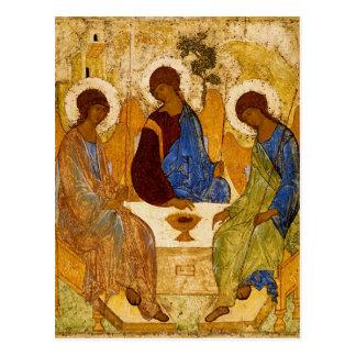 Byzantine Image of Trinity Postcard