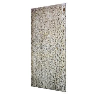 Byzantine slab with cruciform decoration, 12th-14t canvas print