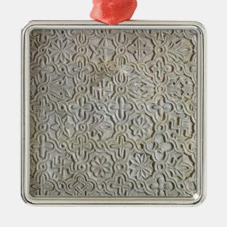 Byzantine slab with cruciform decoration, 12th-14t christmas ornament
