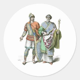 Byzantine Warrior and Chancellor Classic Round Sticker