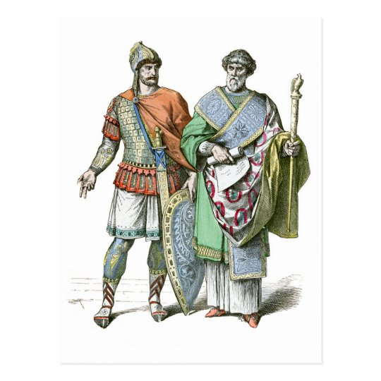 Byzantine Warrior and Chancellor Postcard