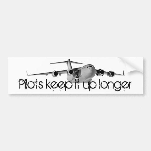 C17, Pilots keep it up longer Bumper Sticker