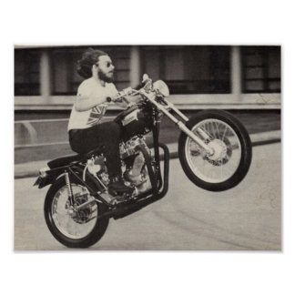 c1969 TRIUMPP Motorcycle Poster