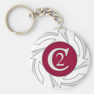 C2 Planners Corporate Logo Basic Round Button Key Ring