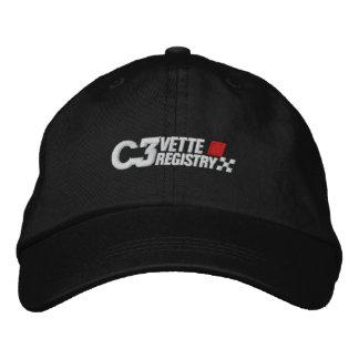 C3VR Logo Embroidered Dark Hat Embroidered Baseball Caps