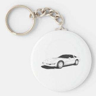 C4 Corvette Key Ring