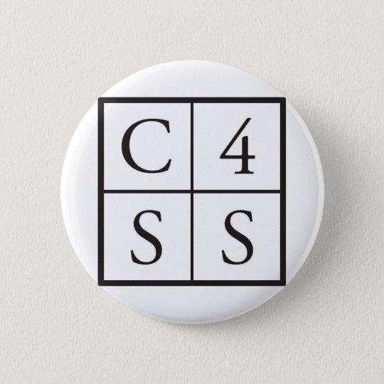 C4SS squared 6 Cm Round Badge