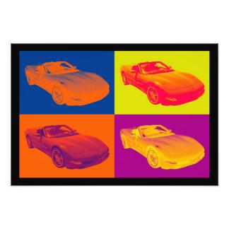 C5 Corvette convertible Muscle Car Pop Art Photo Print