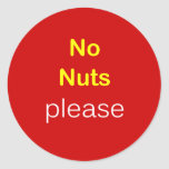 c5 - Food Request ~ NO NUTS PLEASE. Round Stickers