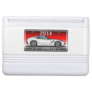 C7 2014 Corvette Coupe by K. Scott Teeters Red Igloo Cool Box