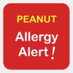 c7 - Allergy Alert - PEANUTS. Sticker