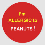 c8 - I'm Allergic - PEANUTS. Sticker