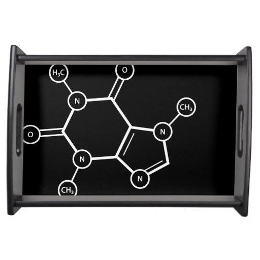 C8H10N4O2 molecular structure Food Tray