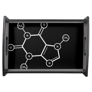 C8H10N4O2 molecular structure Serving Tray