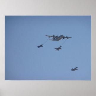 C-130 HERCULES mid air refueling II Poster