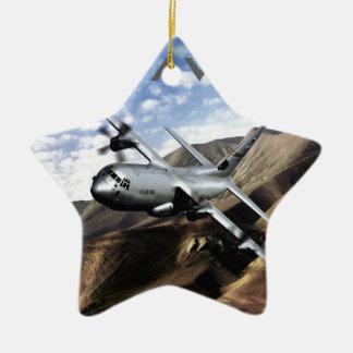 C-130 HERCULES Military Airplane Ceramic Star Decoration
