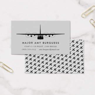C-130 Hercules Pilot Card with matching pattern