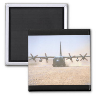 C-130 Hercules Transport_Military Aircraft Square Magnet
