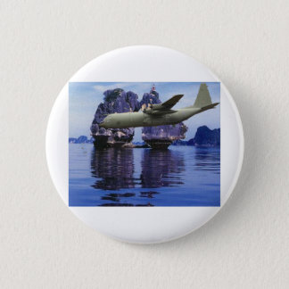C-130 Somewhere in the South Pacific 6 Cm Round Badge