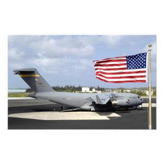 C-17 Globemaster III sits on the flightline Photo Print