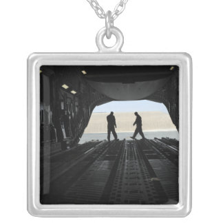 C-17A Globemaster III loadmasters Silver Plated Necklace