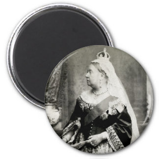 C. 1880 Queen Victoria of England 6 Cm Round Magnet