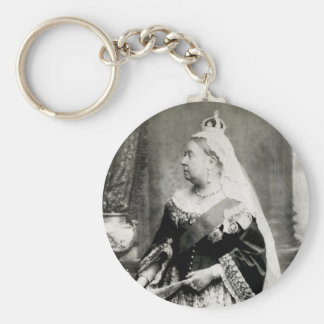 C. 1880 Queen Victoria of England Basic Round Button Key Ring