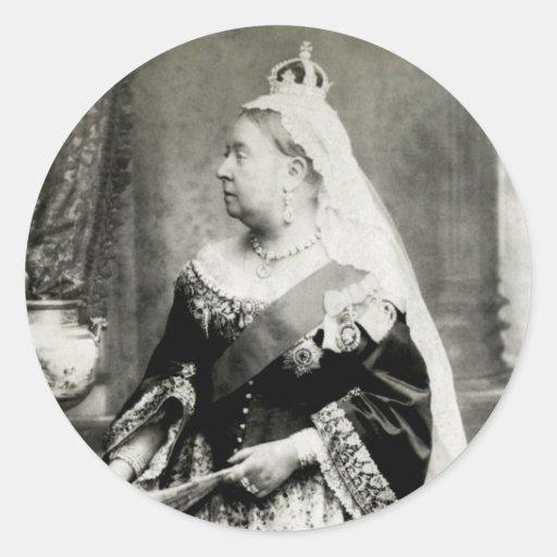 C. 1880 Queen Victoria of England Round Stickers