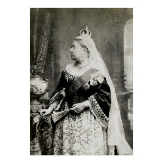 C. 1890 Queen Victoria of England Poster