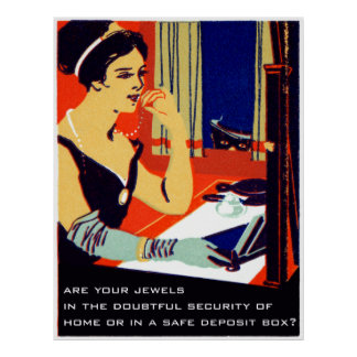 C 1915 Are Your Jewels Safe Posters