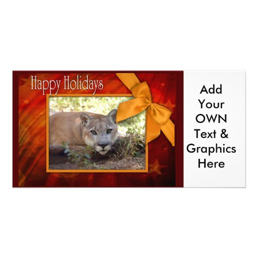 c-2011-cougar-002 personalized photo card