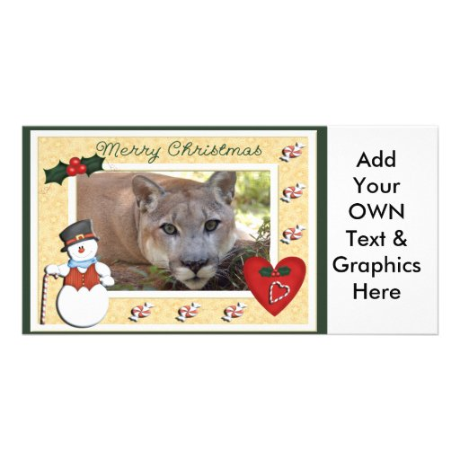 c-2011-cougar-039 customized photo card