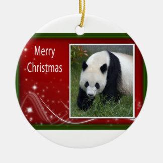 c-2011-panda-0044 christmas ornament
