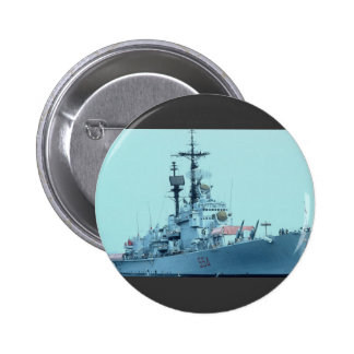 "C-554 ""Caio Duilio"" visiting Italian Navy ship, Sa Pinback Button"