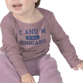 C And M - Cougars - High School - Massena Iowa T-shirts