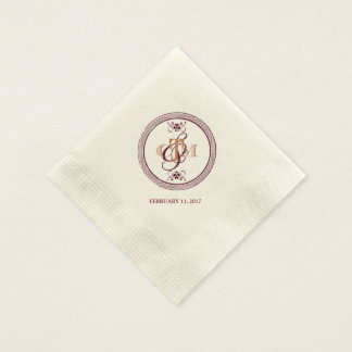 C and M monogrammed cocktail napkins Paper Napkins