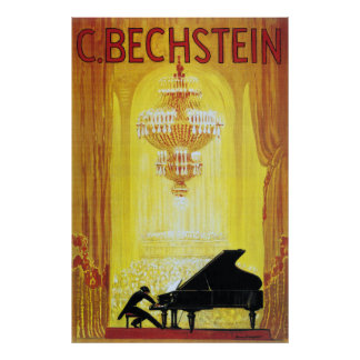 C Bechstein Vintage Piano Advertisement Poster