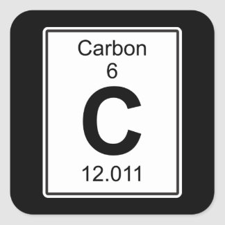 Element carbon craft supplies zazzle c carbon square sticker urtaz Image collections