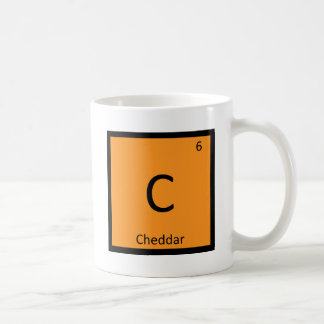 C - Cheddar Cheese Chemistry Periodic Table Symbol Basic White Mug