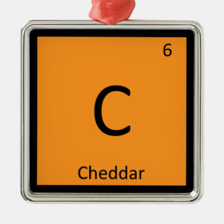 C - Cheddar Cheese Chemistry Periodic Table Symbol Christmas Ornament